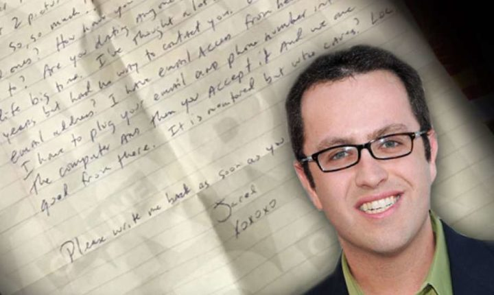 Woman Shares Letter From A Locked Up Jared Fogle