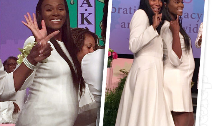 Actress Tika Sumpter Shows Off Baby Bump While Being Inducted Into AKA Sorority